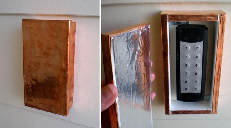 Faraday cage door cover