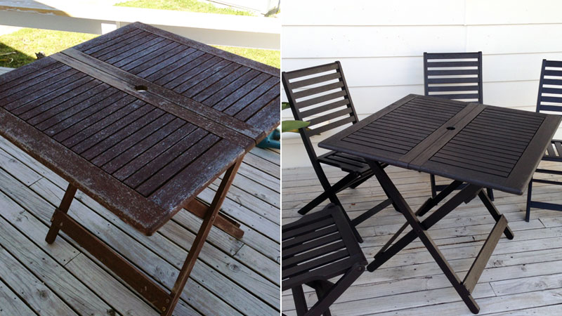 Outdoor furniture before and after