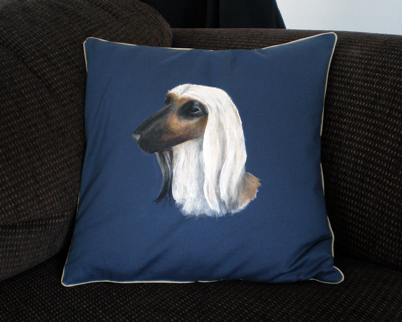 Afghan hound cushion cover