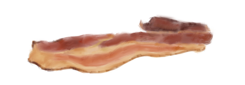 Bacon drawing