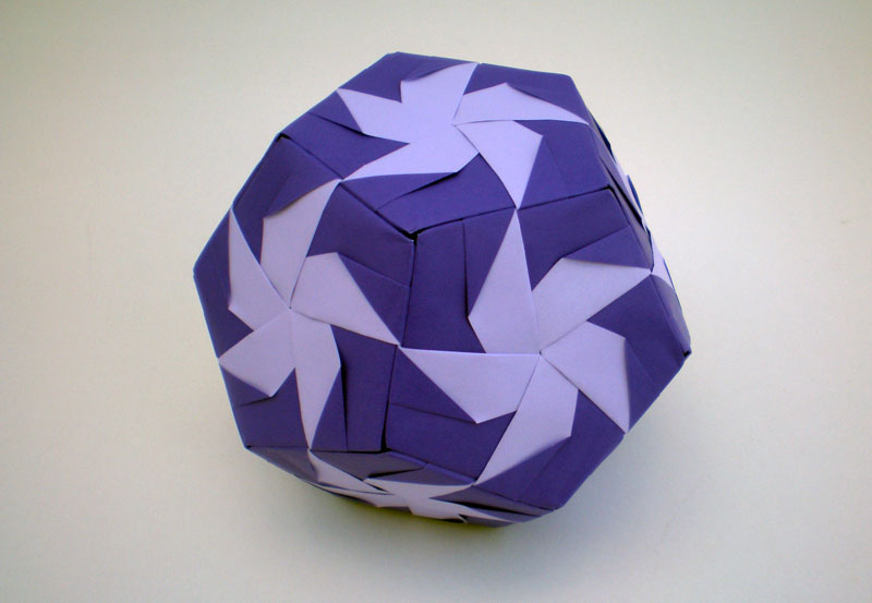 Fancy purple geometric origami