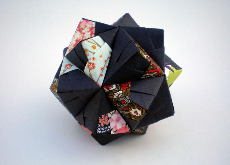 Pretty Japanese print geometric origami