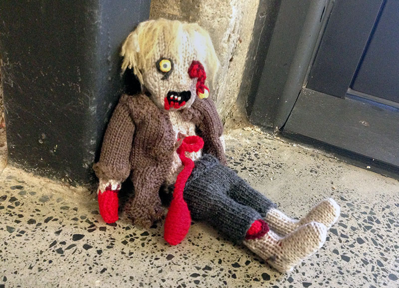 Zombie Knitting Pattern : Zombie craft grr argh make meow