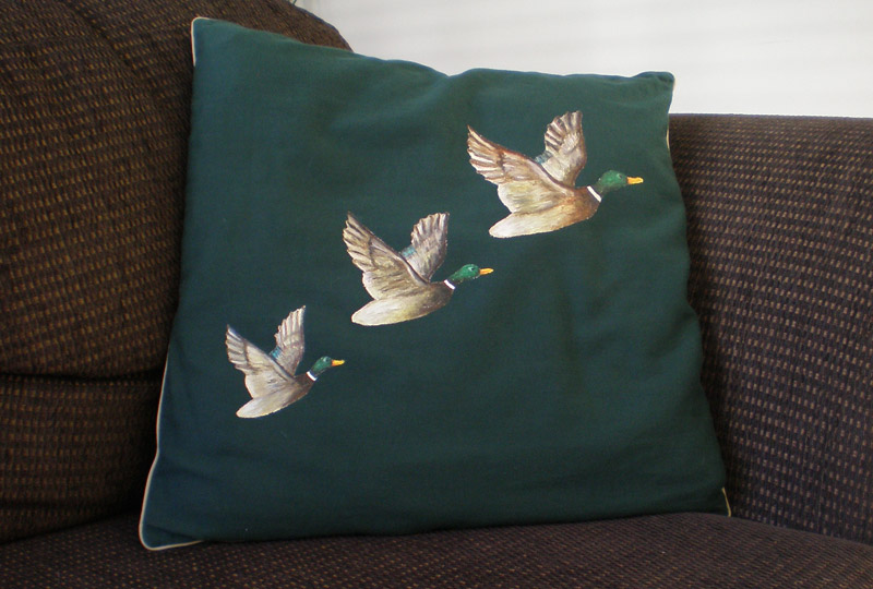 Flying ducks cushion