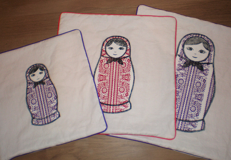 Russian dolls cushions