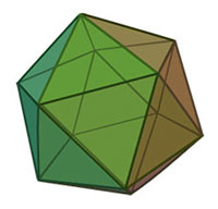 Icosahedron, image from Wikipedia
