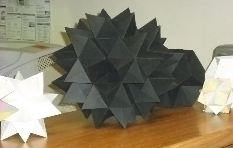 Group of origami polyhedra