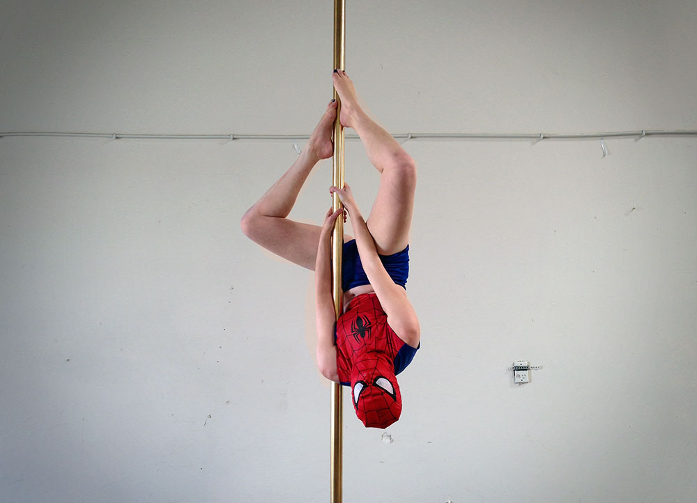 Spiderman pole dance costume