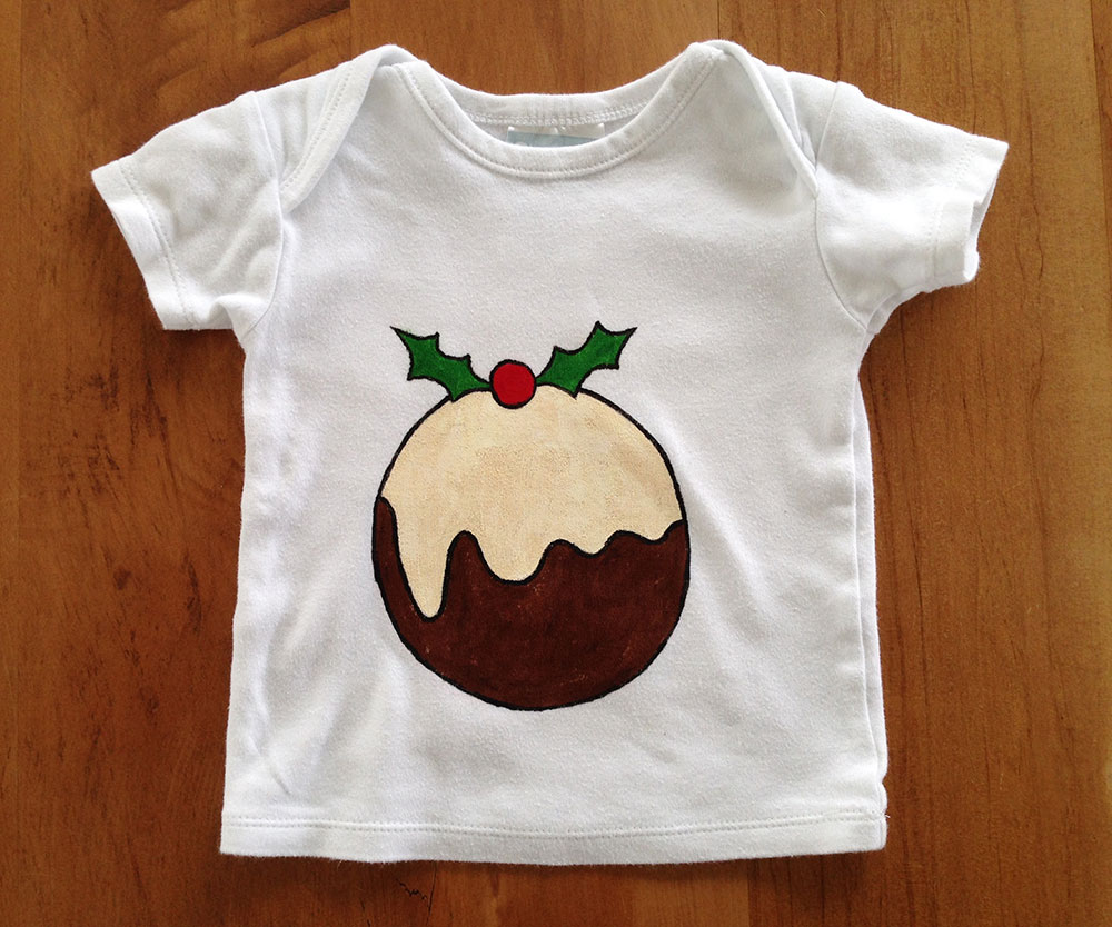 Xmas pudding t-shirt, sans baby