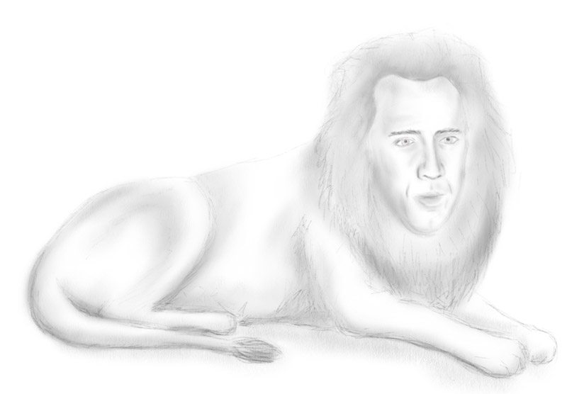 Nicolas Cage as a lion