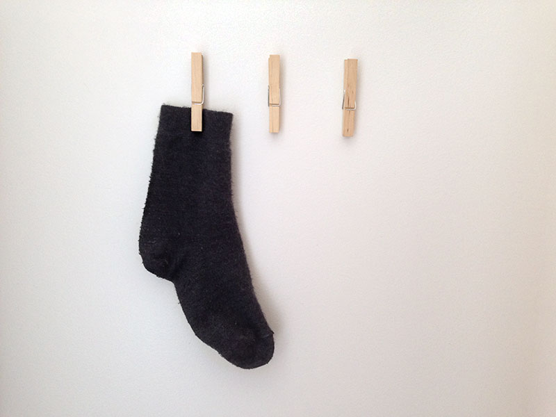 Lost sock pegs