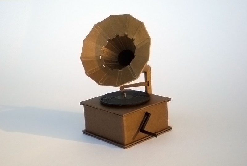 Cardboard gramophone