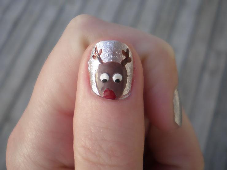 Rudolf xmas nail