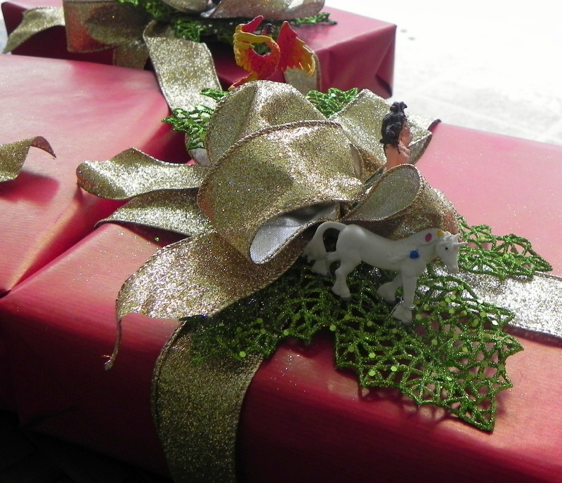 Gift wrapping with mythical creatures
