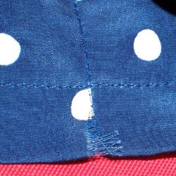 One of the many areas where the seam had started to pull open