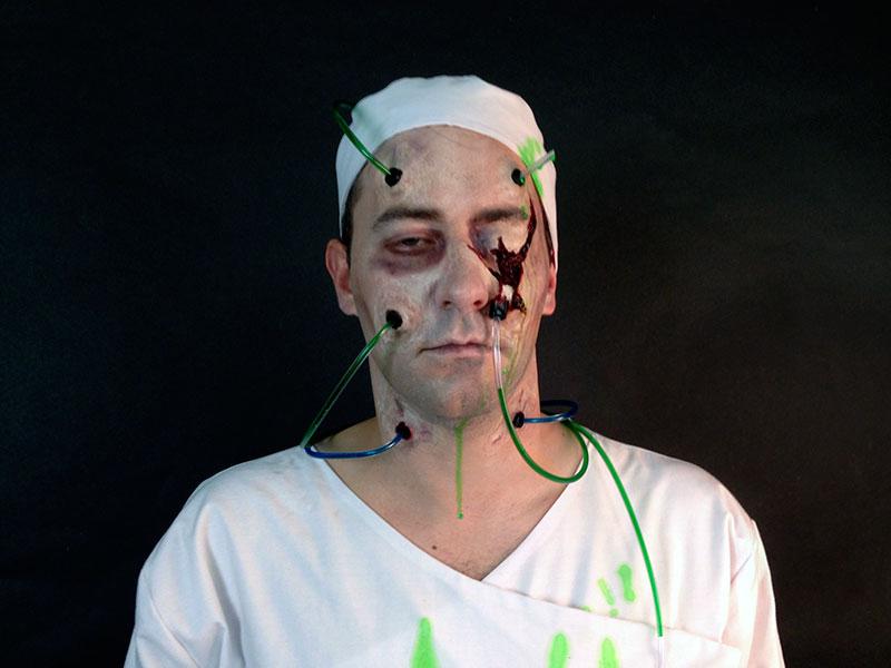Zombie test patient makeup