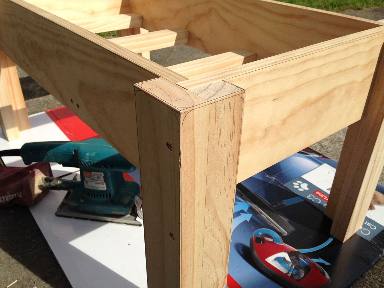 Water table frame